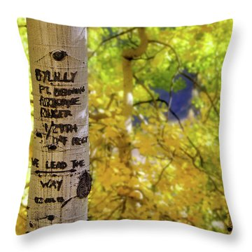 Throw Pillow featuring the photograph We Lead The Way - Aspens - Colorado - Airborne Ranger by Jason Politte