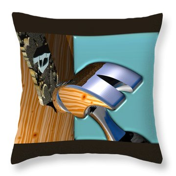 We Live Here Throw Pillow