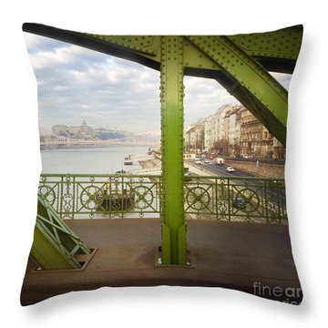 We Live In Budapest #4 Throw Pillow