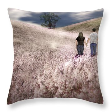 We Made Love Under The Tree Throw Pillow by Gray  Artus