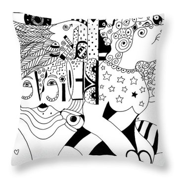 We Make Believe Throw Pillow