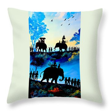 We March At Sunrise  Throw Pillow