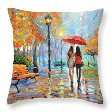 We Met In Park          Throw Pillow