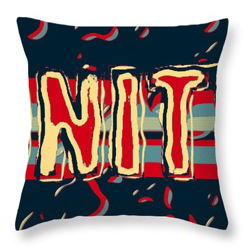 We Need More Throw Pillow