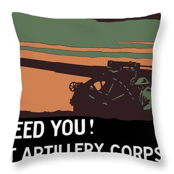 We Need You - Coast Artillery Corps Usa Throw Pillow