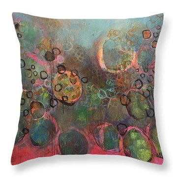Throw Pillow featuring the painting We Never Finish Where We Begin by Laurie Maves ART