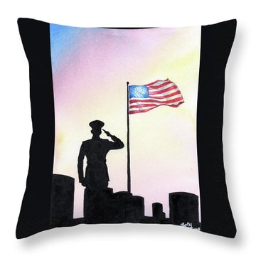Throw Pillow featuring the painting We Remember by Betsy Hackett