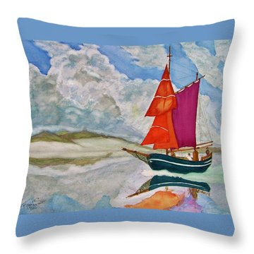 We Sailed Upon A Sea Of Glass Throw Pillow by Rand Swift