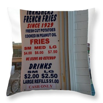 We Serve No Ketchup Throw Pillow