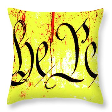 We The People Celebrate A Republic Artist Series Jgibney The Museum Throw Pillow by The MUSEUM Artist Series jGibney