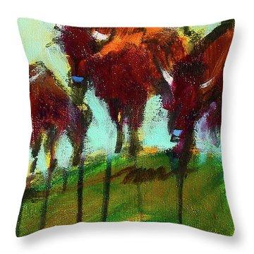 We Three Buffalo Throw Pillow