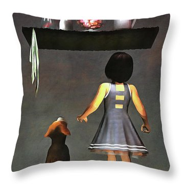 We Want Those Candies Throw Pillow