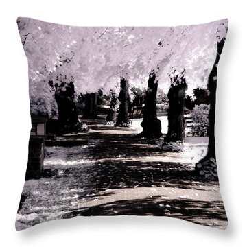 We Will Be Trees Throw Pillow by Helga Novelli