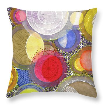Throw Pillow featuring the painting We Will Have Many Moons #2 by Kym Nicolas
