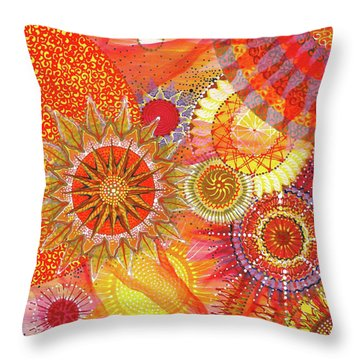 Throw Pillow featuring the painting We Will Have Many Suns #2 by Kym Nicolas