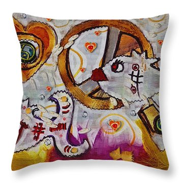 We Wont You To Clean Our Water With Love Throw Pillow by Pepita Selles