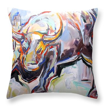Throw Pillow featuring the painting Wealth by John Jr Gholson