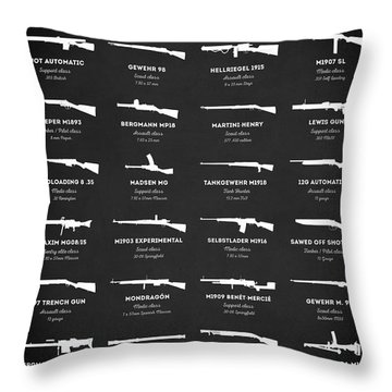 Throw Pillow featuring the digital art Weapons Of Battlefield 1 by Taylan Apukovska