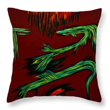 Throw Pillow featuring the painting Weapons Of Love Painting by Renee Anderson