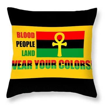 Wear Red Black And Green Throw Pillow