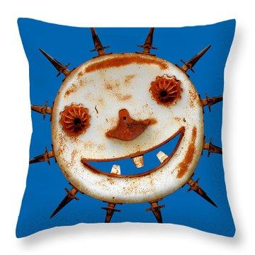 Wear Sunscreen Throw Pillow by Christine Till