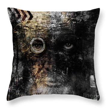 Throw Pillow featuring the digital art Weary by Nola Lee Kelsey