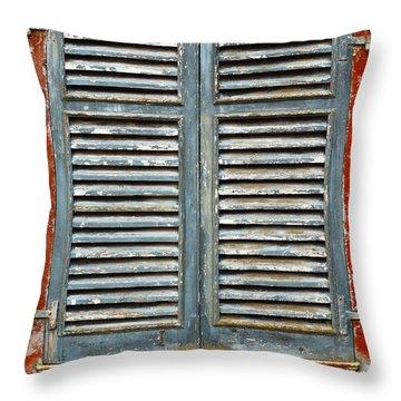 Weather-beaten Window Throw Pillow by Gaspar Avila