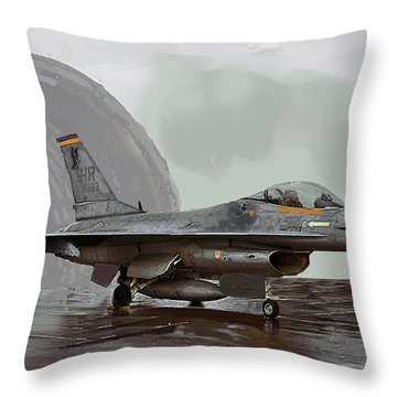 Weather Day Throw Pillow by Walter Chamberlain