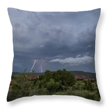 Weather In The Canyon Throw Pillow