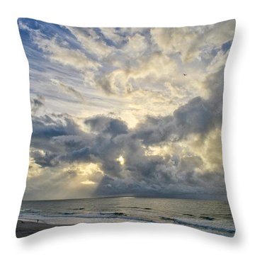 Weather Over Topsail Beach 2977 Throw Pillow
