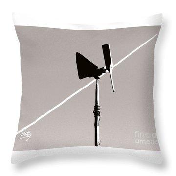 Weather Vane Throw Pillow by Linda Hollis