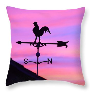 Throw Pillow featuring the digital art Weather Vane, Wendel's Cock by Jana Russon