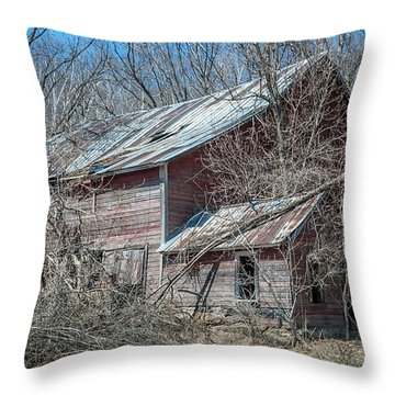 Weathered And Broken Throw Pillow