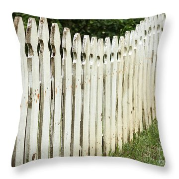Weathered Fence Throw Pillow