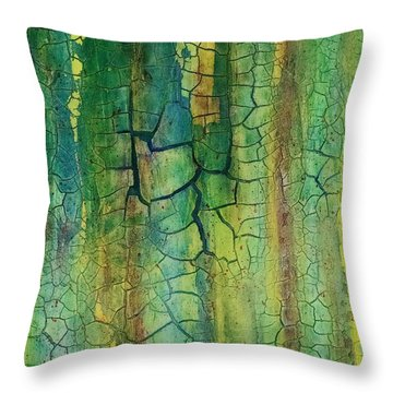 Weathered Moss Throw Pillow