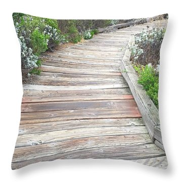 Weathered Path Throw Pillow
