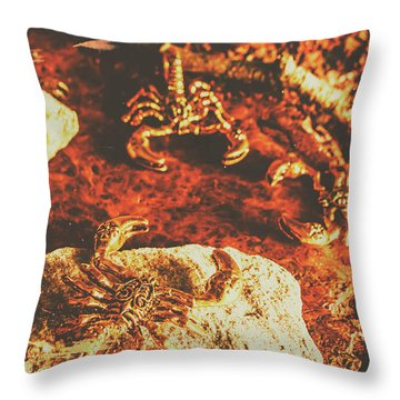 Weathered Scorpion Art Throw Pillow