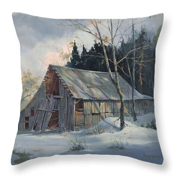 Weathered Sunrise Throw Pillow