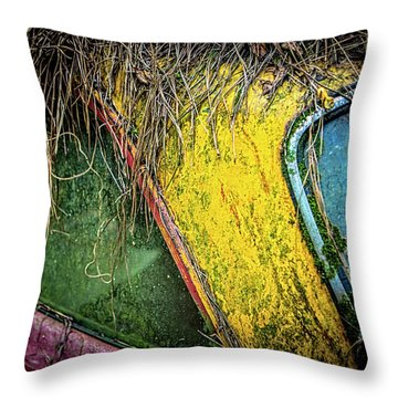 Weathered Vehicle Throw Pillow