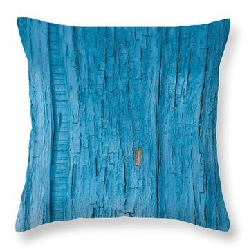 Weathered Wall Amargosa Opera House Death Valley Throw Pillow