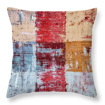 Weathered Wood Colorful Crossing 1 Of 3 Throw Pillow