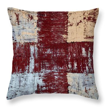 Weathered Wood Colorful Crossing 2 Of 3 Throw Pillow