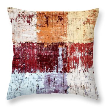 Weathered Wood Colorful Crossing 3 Of 3 Throw Pillow