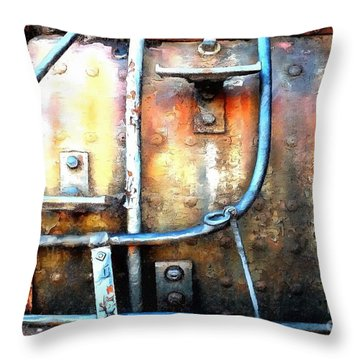 Weathering Steel - Rail Rust Throw Pillow
