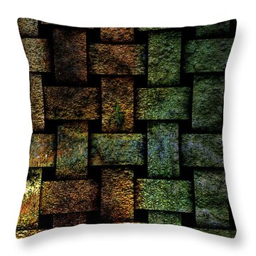 Weave A Might Stone Throw Pillow