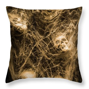 Web Of Entrapment Throw Pillow