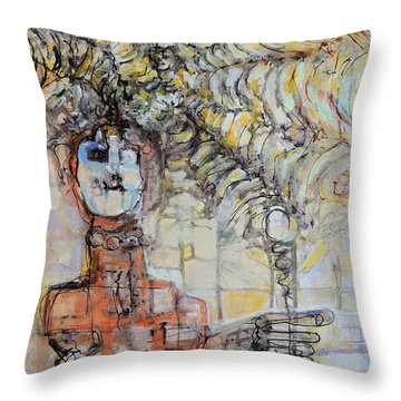 Web Of Memories Throw Pillow