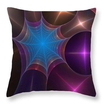 Web Of Mundelbread  Throw Pillow