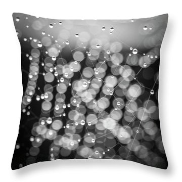 Web Of Water Throw Pillow