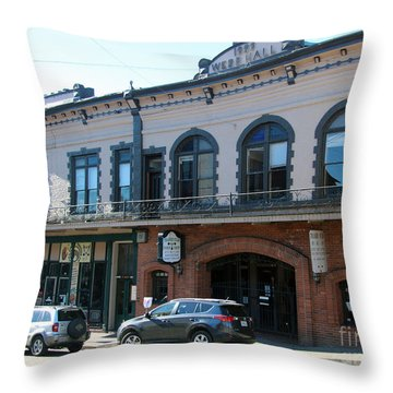 Webb Hall Jackson City Throw Pillow